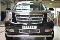 Защита переднего бампера Cadillac Escalade 2007- d76 (дуга)