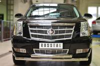 Защита переднего бампера Cadillac Escalade 2007- d76 (дуга) #2