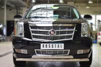 Защита переднего бампера Cadillac Escalade 2007- d75х42 (дуга)