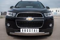 Защита переднего бампера - овалы Chevrolet Captiva 2012 (75*42/75*42)