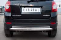 Защита заднего бампера - дуга Chevrolet Captiva 2012 (d76/42)