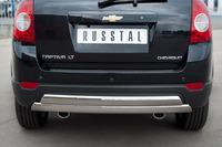 Защита заднего бампера - овал Chevrolet Captiva 2012 (75*42/75*42)
