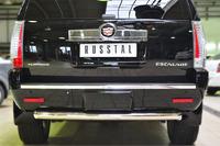 Защита заднего бампера Cadillac Escalade 2007- d76 (дуга)