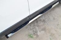 Пороги труба с накладкой Chevrolet Captiva 2013- (d76) #2