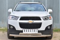 Защита переднего бампера (дуга) Chevrolet Captiva 2013- (75*42/75*42)