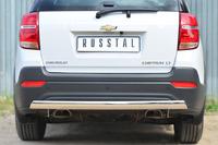 Защита заднего бампера (дуга) Chevrolet Captiva 2013- (d75*42)