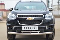 Защита переднего бампера - дуга Chevrolet Trailblazer 2013 (d76/42)
