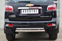 Защита заднего бампера - дуга Chevrolet Trailblazer 2013 (d63/42)