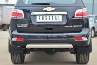 Защита заднего бампера - дуга Chevrolet Trailblazer 2013 (75*42)