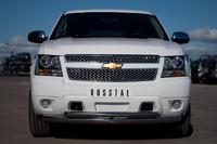 Защита переднего бампера - дуга Chevrolet Tahoe 2012 (d76/63)