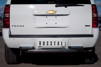 Защита заднего бампера - дуга Chevrolet Tahoe 2012 (d76/63)