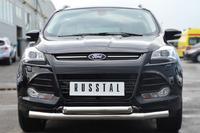 Защита переднего бампера - дуга Ford Kuga 2013- (d76/63)