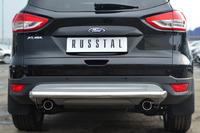 Защита заднего бампера - дуга Ford Kuga 2013- (d63)