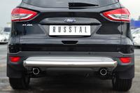 Защита заднего бампера - дуга Ford Kuga 2013- (d76)