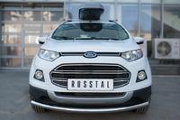 Защита переднего бампера - дуга Ford Ecosport 2014- (d63)