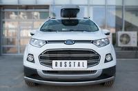 Защита переднего бампера - дуга Ford Ecosport 2014- (d75*42)