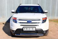 Защита переднего бампера - дуга Ford Explorer 2012 (d63/63)