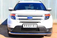Защита переднего бампера - дуга Ford Explorer 2012 (d76)