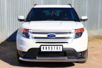Защита переднего бампера - дуга Ford Explorer 2012 (d76/63)
