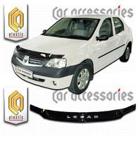 Дефлектор капота - мухобойка Renault Logan 06-09