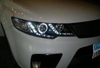Альтернативная оптика (фары) «Eagle Eyes» для Kia Cerato Forte / Kia Forte Koup (черные)
