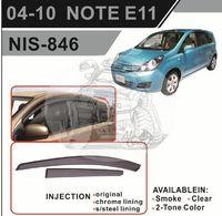 Ветровики - дефлекторы окон Nissan Note E11 05-07 (TXR Тайвань)