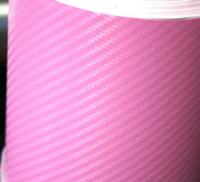Пленка карбон 3D carbon розовая
