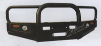 Передний силовой (металлический бампер) Powerful для Toyota Land Cruiser Prado 78 (большой)