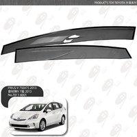 Ветровики - дефлекторы окон Toyota Prius A ( Alpha )