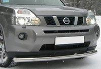Защита переднего бампера (дуга) Nissan X-Trail T31 2009+ (одинарная)
