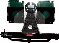Универсальный металлический кронштейн на силовой бампер под запасное колесо + крепления для канистр (под квадрат)