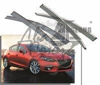 Ветровики - дефлекторы окон Mazda 3 (HBK)/Axela BM# 2013+ с молдингом