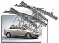 Ветровики - дефлекторы окон Nissan Tiida (Sedan) 2004-2010