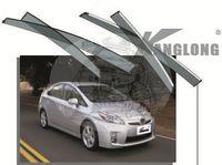 Ветровики - дефлекторы окон Toyota Prius ZVW40 2015 с молдингом