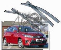 Ветровики - дефлекторы окон Toyota Yaris NCP15# 2013+ (с молдингом)