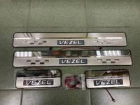 Накладки на пороги с подсветкой (метал) Honda Vezel