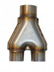 Переходник выхлопных систем Magnaflow style (Y-pipe) 63мм * 2 - 76мм