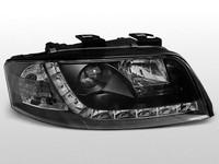 Передние альтернативные тюнинг фары на Audi A6 #2