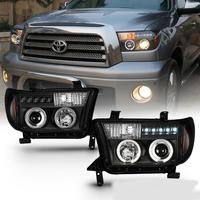 Фары тюнинг Toyota Tundra 2007-2013 (черные)