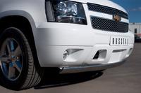 Защита переднего бампера - дуга овал Chevrolet Tahoe 2012 (75*42)