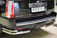 Защита заднего бампера Cadillac Escalade 2007- d76-d42 (уголки)