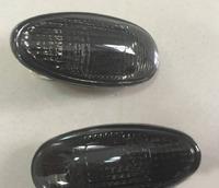 Поворотники в крыло Mitsubishi Delica / Space Gear 1997-2006 хрусталь дымчатые