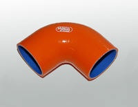 Патрубок силиконовый Samco оранжевый 76мм 90 градусов