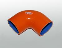 Патрубок силиконовый Samco оранжевый 63-70мм 90 градусов