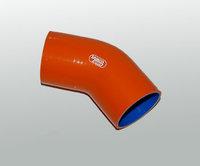 Патрубок силиконовый Samco оранжевый 45 градусов 57-76мм