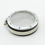 Заглушка воздуховода с сеткой серебро (3 размера)