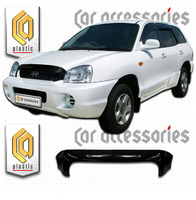 Дефлектор капота - мухобойка Hyundai Santa Fe Classic 2001