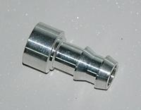 Адаптер вварной 8мм алюминий
