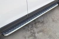 Пороги труба с листом Chevrolet Captiva 2013- (d42)