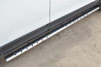 Пороги труба овал с проступью Chevrolet Captiva 2013- (75*42)